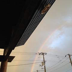 雨、虹、後光!