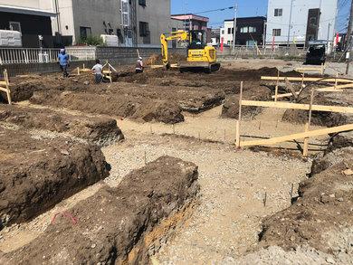 いよいよ、北郷1-8分譲地 第一期3棟限定 コンセプト住宅工事始まりました!