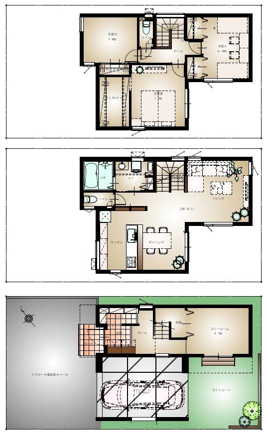 平和通8丁目北 <コンセプト建売住宅A棟 > 5月完成予定!